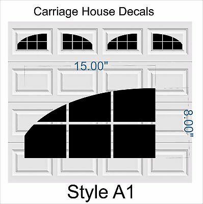 Carriage Craftsman House Faux Window Garage Door Vinyl Decals Fits 8x15 Style A1