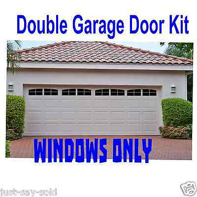 Carriage House Style Faux Windows Garage Door Vinyl Decals - No Faux Hardware