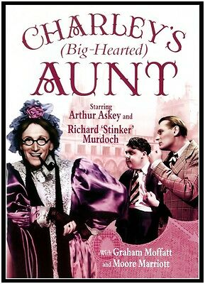 CHARLEY'S (Big Hearted) AUNT - 1940  Arthur Askey - NEW / SEALED / FREE SHIPPING