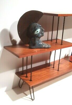 Vintage Regal Strinning Hairpin Etagere Board Rack Ablage Teak 60 er