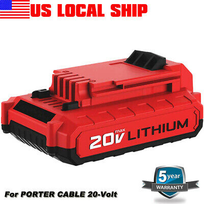 PCC685L For PORTER CABLE 20-Volt Max 2.0-Amp Lithium-Ion Battery PCC690L PCC680L