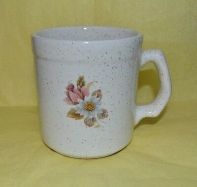 """Vintage Blue Mountain Pottery (Country Rose Pattern)  White 3.5 """" Cup / MUG"""