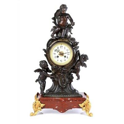 Antique French Mantel Pendulum Clock. France, Circa 1880