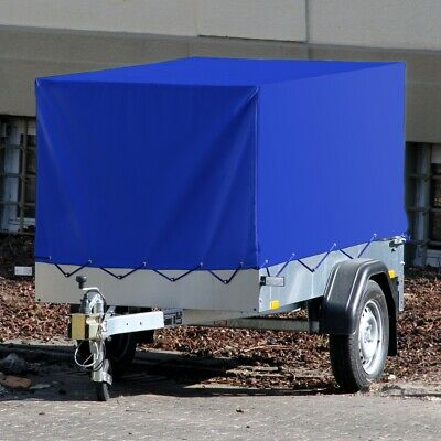 High side trailer cover tarpaulin waterproof high cover blue 2075x1140x900mm