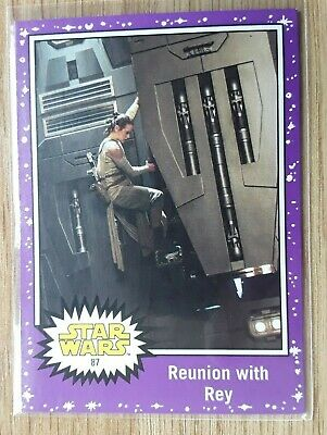 Star Wars Journey to the Last Jedi ~ PURPLE PARALLEL BASE CARD 87