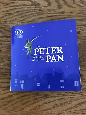 PETER PAN 2019 Isle of Man Six 50p Coin Set Uncirculated Sealed Pack.