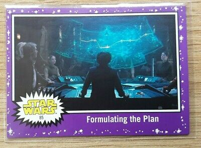 Star Wars Journey to the Last Jedi ~ PURPLE PARALLEL BASE CARD 85