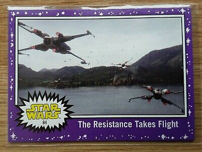 Star Wars Journey to the Last Jedi ~ PURPLE PARALLEL BASE CARD 84