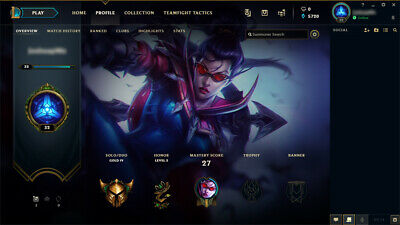 League of Legends Account | LOL | EUW | Gold 4 | 21 Champ 1 skin