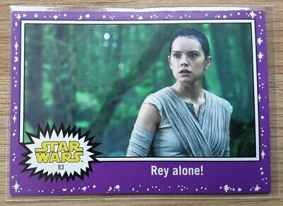 Star Wars Journey to the Last Jedi ~ PURPLE PARALLEL BASE CARD 83