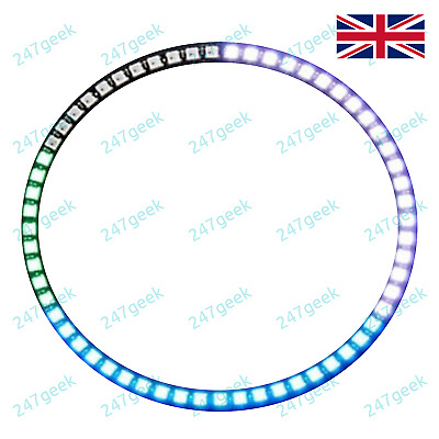 Neopixel WS2812 RGB LED 1 7 8 12 16 24 60 way ring / strip WS2812B Neopixels UK