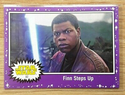 Star Wars Journey to the Last Jedi ~ PURPLE PARALLEL BASE CARD 82