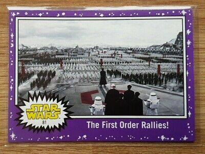 Star Wars Journey to the Last Jedi ~ PURPLE PARALLEL BASE CARD 81
