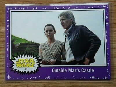 Star Wars Journey to the Last Jedi ~ PURPLE PARALLEL BASE CARD 79