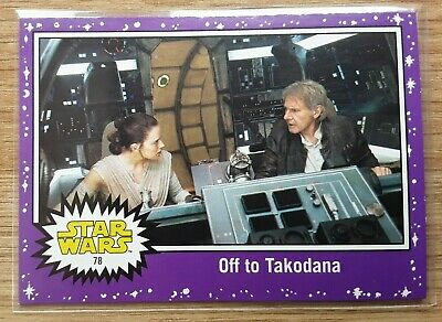 Star Wars Journey to the Last Jedi ~ PURPLE PARALLEL BASE CARD 78