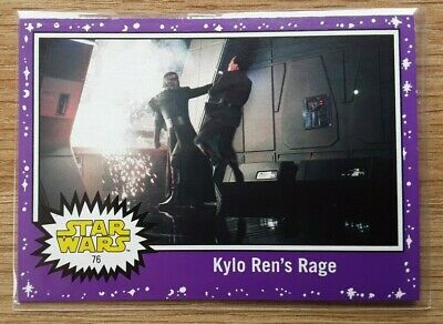 Star Wars Journey to the Last Jedi ~ PURPLE PARALLEL BASE CARD 76