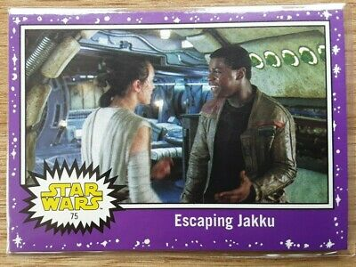 Star Wars Journey to the Last Jedi ~ PURPLE PARALLEL BASE CARD 75