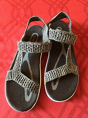 ba1c5be2b3c7a9 TEVA NEW Men Sz 11 BLACK/GRAY TERRA FLOAT 2 KNIT UNIVERSAL STRAPPY SANDALS