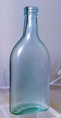 Antique Ayers Hair Vigor Bottle 1890 BIM Applied Finish Aqua