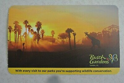 BUSCH GARDENS TAMPA 1-DAY PASS - Expires 12/15/2019