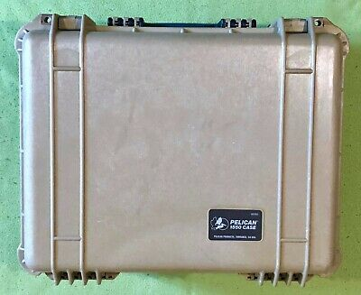 Peli Pelican 1550 Protector Case with Divider Set and Lid Foam in Desert Tan