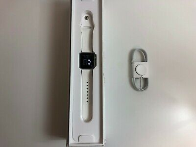 Apple Watch Series 2 38mm MNNW2LL/A Silver Aluminum Case White Sport Band GPS