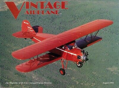 Vintage Airplane Magazine Aug 1995 Paramount Cabinaire Saplanes Hardly Ableson
