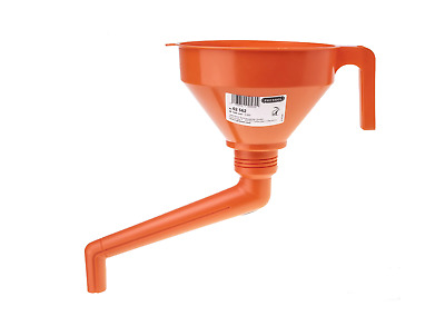 "Pressol Offset Funnels 1.2L Large Heavy Duty Funnel 6"" Robust HDPE Angled Funnel"