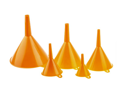 Funnel Set of 5 Funnels 60mm - 140mm Dia Heavy Duty Funnel Sets with Handles UK