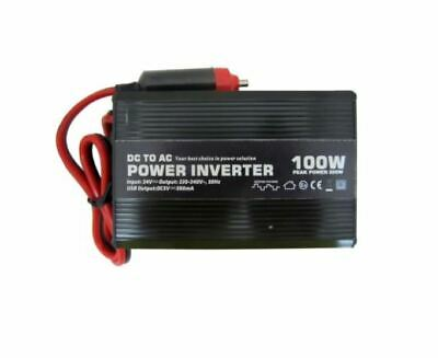 100W DC-AC Car / Van Power Inverter, 12V dc / 230V ac - Universal UK/Euro Output