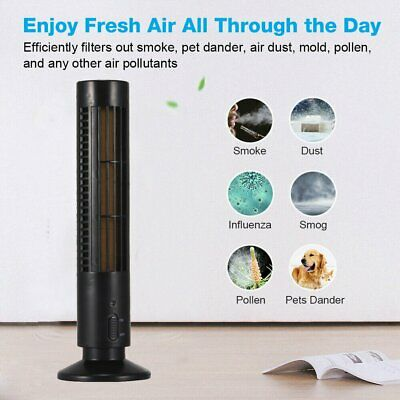 Air Purifier HEPA Filter UV Sanitizer Odor Mold Dust Smoke Air Cleaner-black