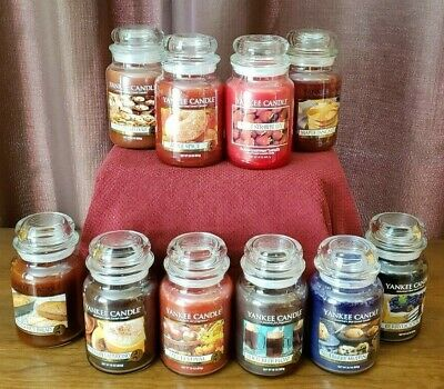 M-P SCENTS) YANKEE Candle LARGE 22 oz JAR & TUMBLER CANDLES