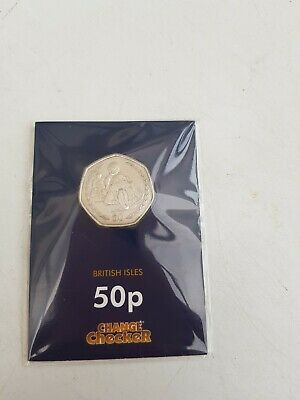 "Rare Change Checker Isle Of Man 50 Pence Coin ""Philip Mccallen Tt Races"", 1997"