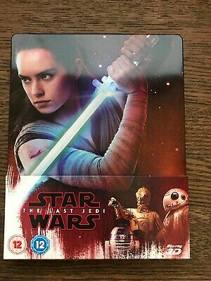 Star Wars The Last Jedi 3D 2D Blu Ray Steelbook UK version