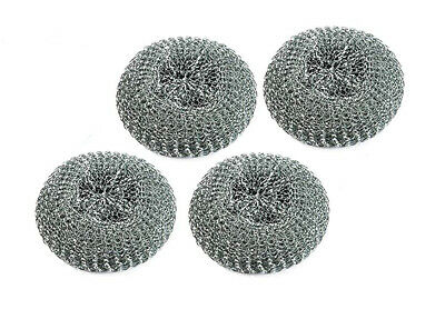 4Pcs Large Steel Scourers Tough Cleaning Washing Pad Restaurant Caterers Kitchen