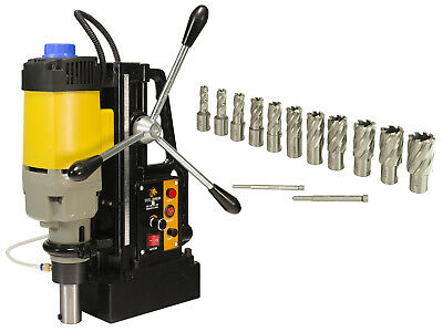 """Steel Dragon Tools® MD50 Magnetic Drill Press with 13pc 1"""" HSS Cutter Kit"""
