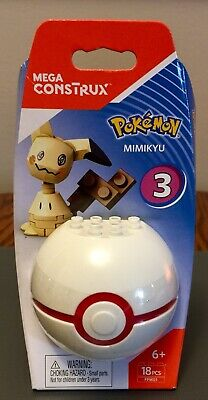 MEGA CONSTRUX POKEMON SERIES 3 NEW MIMIKYU and CRABRAWLER  lot of 4
