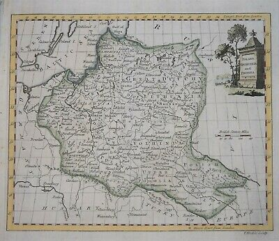 Poland -  Poland, Lithuania And Prussia By Thomas Kitchin, 1770.