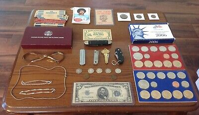 Junk Drawer Lot Proof,Mint Set,Pocket Knives,Sterlingsilver,Silver Coins,Ect