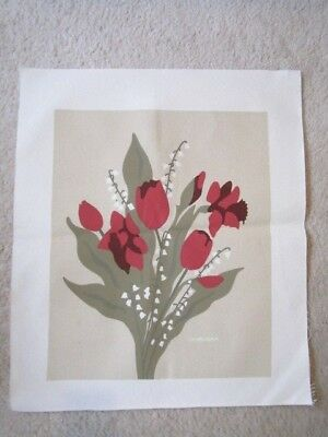 Marushka Silk Screen Print Floral Tulips And Lillies