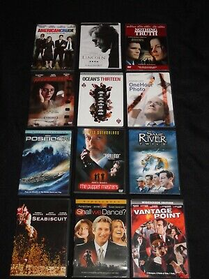 Dvd Lot Of 12 Drama Action Movies (Like New)