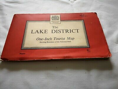 Vintage O/S  Map Of The Lake District