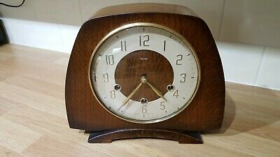 Vintage Smiths Westminster Chimes Mantle Clock Full Working Order Excellent