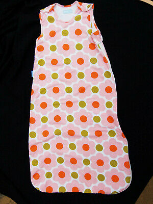 Grobag Baby Sleeping Bag 18 - 36 months 1 tog Orla Kiely Daisy Spot excellent co