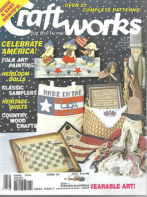Craftworks For Home Magazine July 1991 Patterns Idea Book Celebrate America