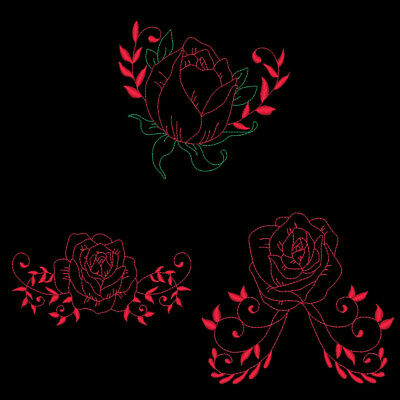FREE SHIPPING SWEET ELEGANT ROSES 6inch 10 Machine Embroidery Designs CD