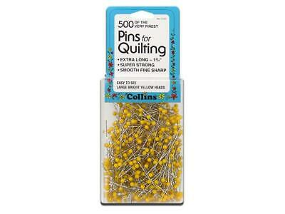 Collins Col122  Quilting Pins 1 75 Yellow Head 500Pc