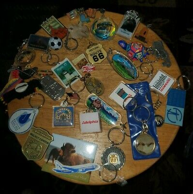 Vintage Junk Drawer Collectible Lot 25+ Key Chains tonight show, natural history