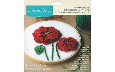 Dimensions Dim75797 Punch Needle Kit 8 Poppies