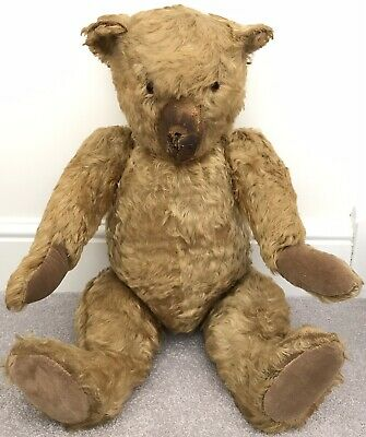 "Antique Large Chiltern Teddy Bear C.1930s Golden Mohair 26"" Well Loved Needs TLC"
